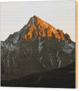 Alpine Glow Wood Print