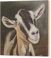 Alpine Goat Wood Print