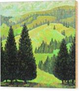 Alpine Hills Wood Print