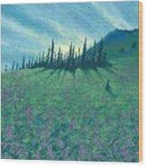 Alpine Hillside Wood Print