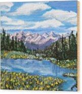 Alpine Lake Colorado Usa Wood Print