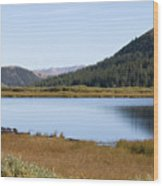 Alpine Lake In The Arapahoe National Forest Wood Print