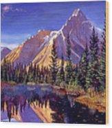 Alpine Lake Mist Wood Print