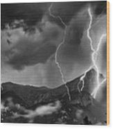Alpine Lightning Wood Print