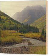 Alpine Loop Fall Wood Print