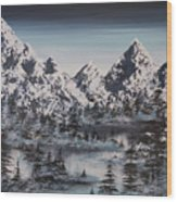 Alpine Peaks Wood Print