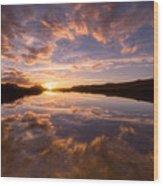 Alpine Sunset Wood Print