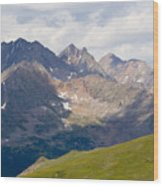 Alpine Tundra And The Colorado Continental Divide Wood Print