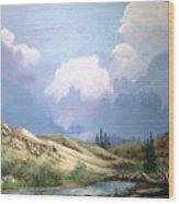 Alpine Vale Wood Print