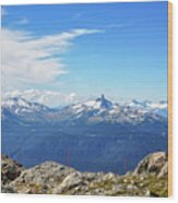 Alpine View In Canada Wood Print