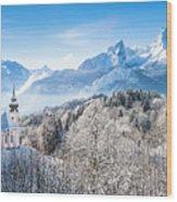 Alpine Winterdreams Wood Print