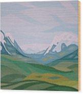 Alps 2 Wood Print