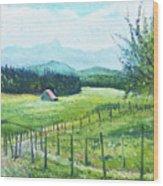 Alps From Geneva Switzerland 2016 Wood Print