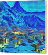 Alps Of Switzerland - Pa Wood Print