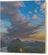 Alpsee Lake Wood Print