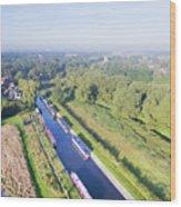 Alrewas Canal Wood Print