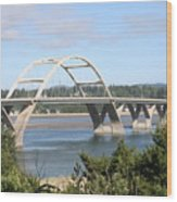 Alsea Bridge Br 7002 Wood Print