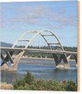 Alsea Bridge II Br-7005 Wood Print