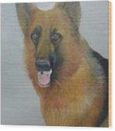 alsheshan Dog  Wood Print
