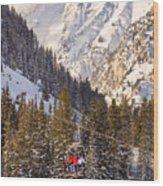 Alta Ski Resort Wasatch Mts Utah Wood Print