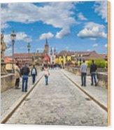 Alte Mainbrucke In The Historic City Of Wurzburg Wood Print