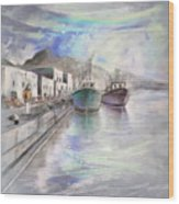Altea Harbour On The Costa Blanca 01 Wood Print