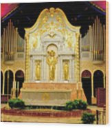 Alter - Cathedral Of St. Augustine Wood Print