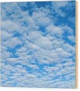 Alto-cumulus Wood Print