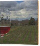 Alto Vineyards Wood Print