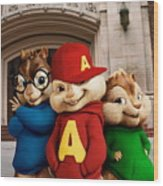 Alvin And The Chipmunks Wood Print