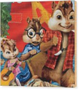 Alvin And The Chipmunks Chipwrecked Wood Print