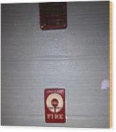 Always Call 911 In An Emergency Wood Print