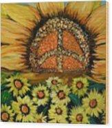 Always Face The Sun Wood Print