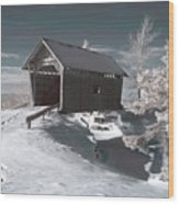 A.m. Foster Covered Bridge Infrared Wood Print