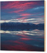 A.m. On Antelope Island Wood Print