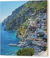 Amalfi Coast, Positano, Italy Wood Print