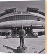Amalie Arena Black And White Wood Print