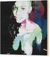 Amani African American Nude Fine Art Painting Print 4966.03 Wood Print