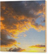 Amarillo Golden Sunset Wood Print by Jeff Steed