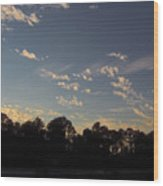 Amazing Clouds Before Sunset Wood Print