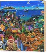 Amazing Coral Reef Wood Print