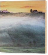 Amazing Landscape Of Tuscany Wood Print