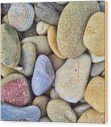 Amazing Pebbles Wood Print