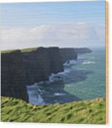 Amazing Scenic Views Of The Cliff's Of Moher Wood Print