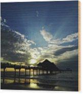 Amazing Sky Pier 60 Wood Print