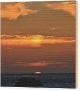 Amazing Sunset 262 Wood Print