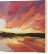 Amazing Sunset Wood Print