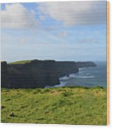 Amazing Views Of The Cliff's Of Moher In Ireland Wood Print