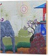 Amazing Wall Art Painting Or Elephants Wood Print