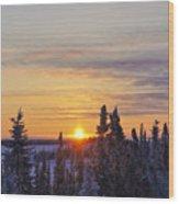 Amazing Winter Sunrise Wood Print